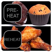 pre heat reheat function nuwave brio 6 qt airfryer