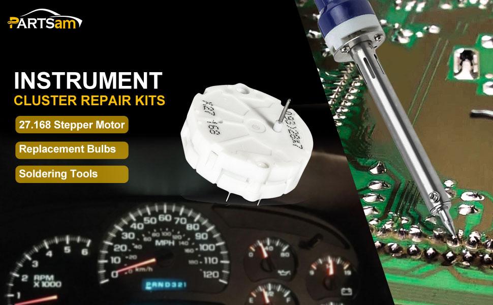 GMC GM Gauge Instrument Cluster Repair Kit 7 Stepper Motor Tool 12 Bulbs x27 168 for Hummer H2 2003-2006