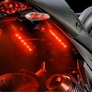 Partsam 2 X 4 5inch Motorcycle Led Third Brake Light Universal Tail Brake Stop Turn Signal Running Light Super Bright 6smd Red Led Strip Light Bar