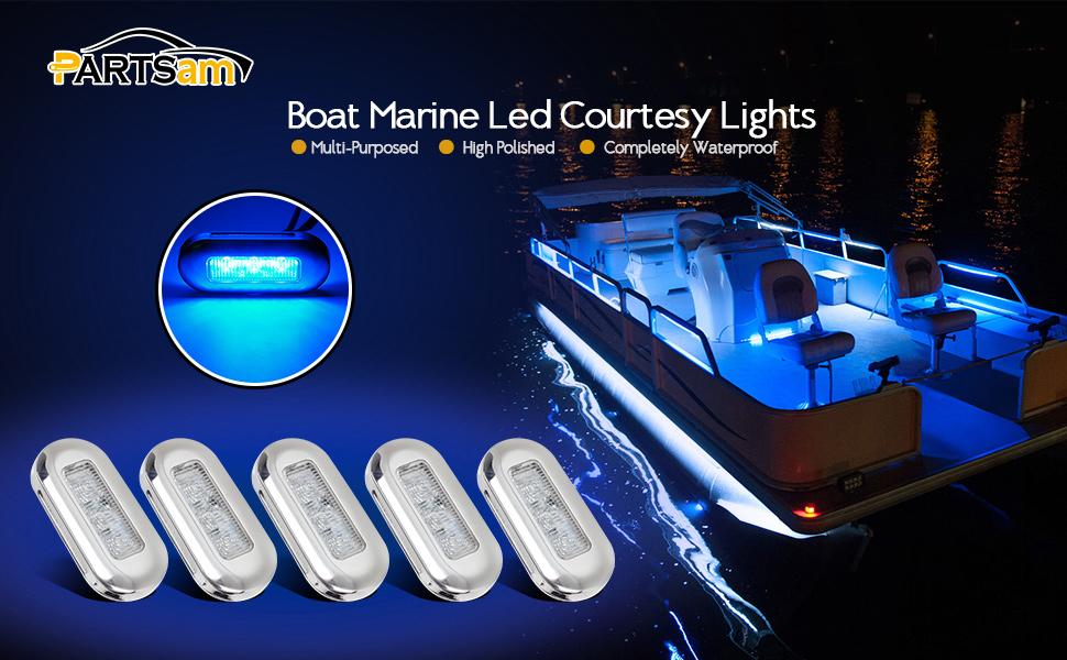 18W LED Work Light Bar Spotlight Oblong Courtesy Light Yacht Marine Boat Stair