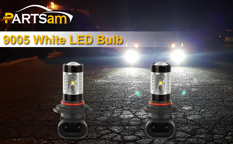 Partsam 2PCS 9006 9006XS HB4 LED Fog Driving Light Bulbs with Projector 7000K Cool White 30W High Power LED Bulbs Replacement for 2002-2006 Acura MDX TL