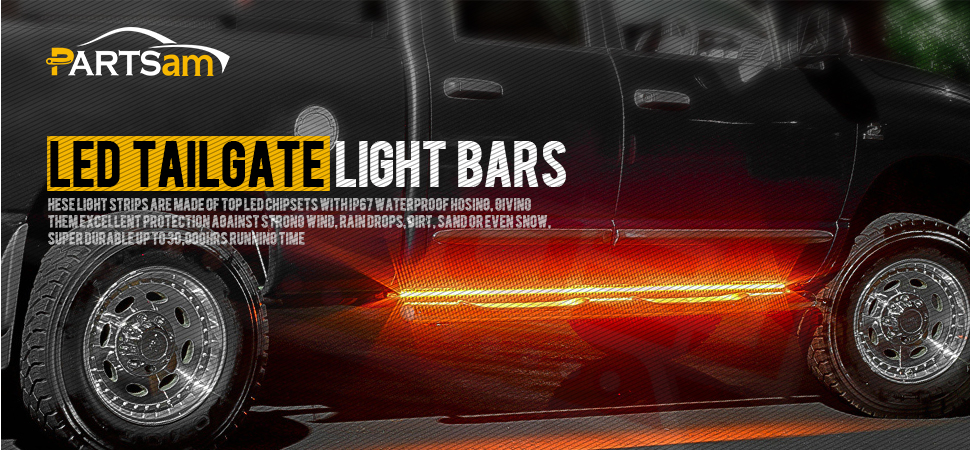 Amazon partsam 60 led tailgate light bar truck tail light led it all started in the summer of 2013 with a simple with bold idea make better auto parts in other words not just a better auto parts a better way of aloadofball Choice Image