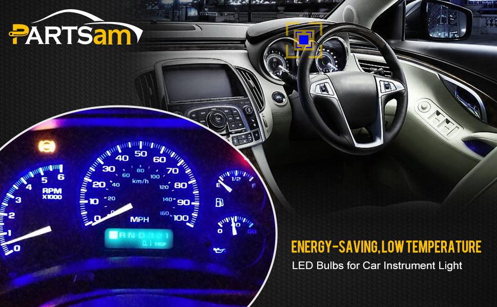 Amazon com: Partsam 10PCS Blue T4 7 Instrument Panel LED Light Gauge