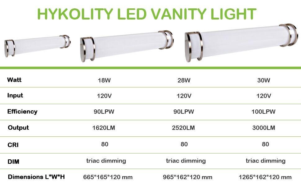 Hykolity 48 Inch 30w Integrated Led Linear Vanity Light