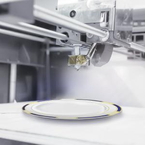 Venetian Blue Premium Plastic Plates