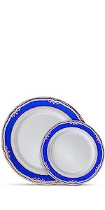Cobalt Blue Gold Plates