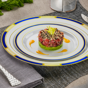 Venetian Blue Gold Plates and Bowls