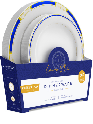 Venetian Blue and Gold Plates