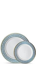 Midnight Blue Gold Plates