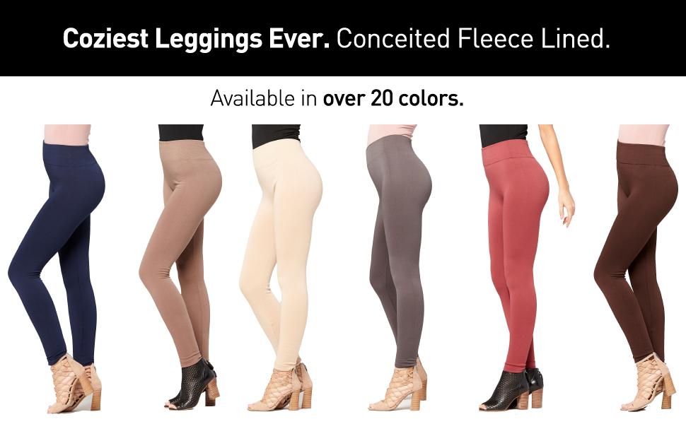 38dfb4ab11804 Premium Women's Fleece Lined Leggings - High Waist - Regular and ...