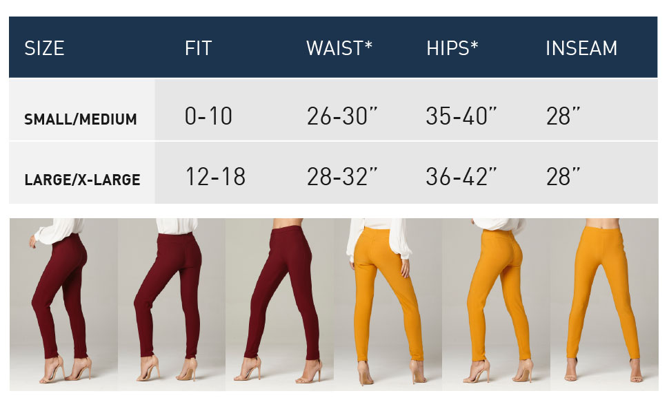 1afda04f4278d Premium Women's Stretch Ponte Pants - Dressy Leggings - Wear to Work ...