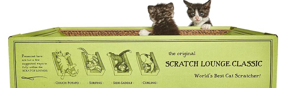 original scratch lounge classic cat scratcher scratching post use