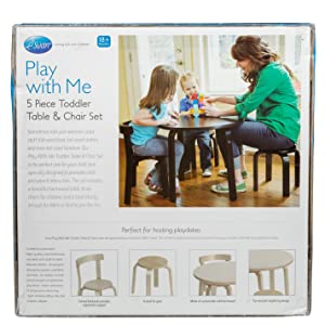 Amazon.com: Kids Table and Chair Set - Svan Play with Me Toddler ...