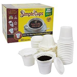 Simple Cups Combo Pack Cups K-Cups Lids Filters Disposable Keruig Original