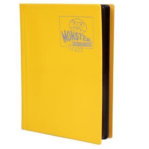 Monster Protectors Trading Card Binder Game Gamer Gaming Trade Yellow Four Pocket Sleeve Pages