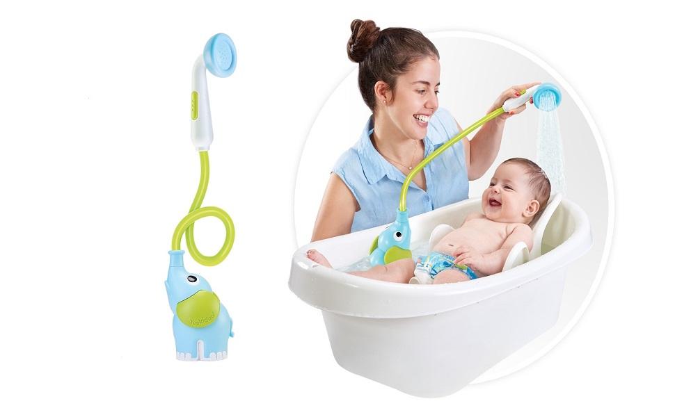 Amazon Com Yookidoo Baby Bath Shower Head Elephant Water Pump