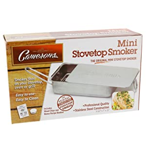 Camerons Stovetop Smoker Stove Top Grilling Grill BBQ Cooking Camerons Products Smoke-Cooking