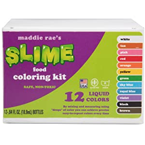 Amazon.com : SCS Direct Maddie Rae\'s Food Coloring Kit - 12 Color ...
