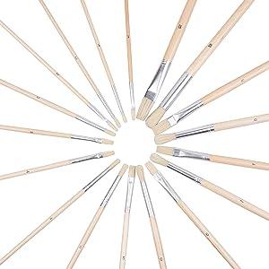 paintbrush, paint, brush, painting, artist, art, canvas, artistry, beginner, round, flat