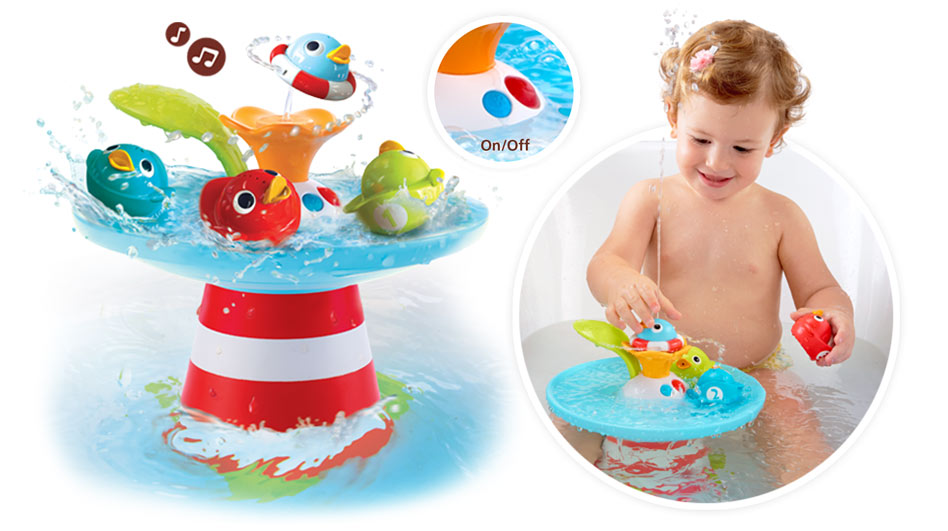 Amazon.com: Yookidoo Bath Toy - Musical Duck Race with Auto Fountain ...