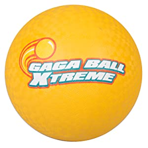 8.5 inches Gagaball Official Play Kickball with Air Pump SCS Direct Gaga Playground Balls 3pk Durable Rubber Lightweight and Great for Dodgeball