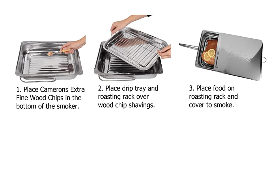 Camerons Products Grilling Grill Smoking Smoke Cooking Cook BBQ Barbecue Barbeque Stovetop Smoker