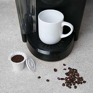 Simple Cups Disposable Recycle K-Cups Lids Filter Keruig Original Coffee