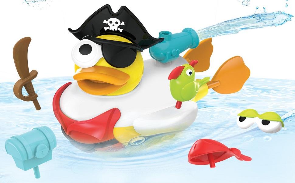 pirate duck yookidoo baby bath toy tub bathtub bathtime kid child play boy girl preschool toddler