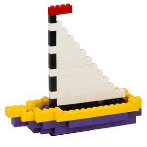 Bricks Colorful Boat Sailboat