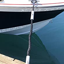 Mooring Bungee line, Boating accessories on front of boat