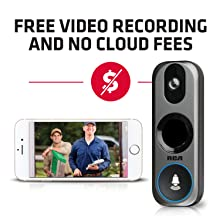 no cloud fees, free recording home security camera. ring doorbell security system full home alarm