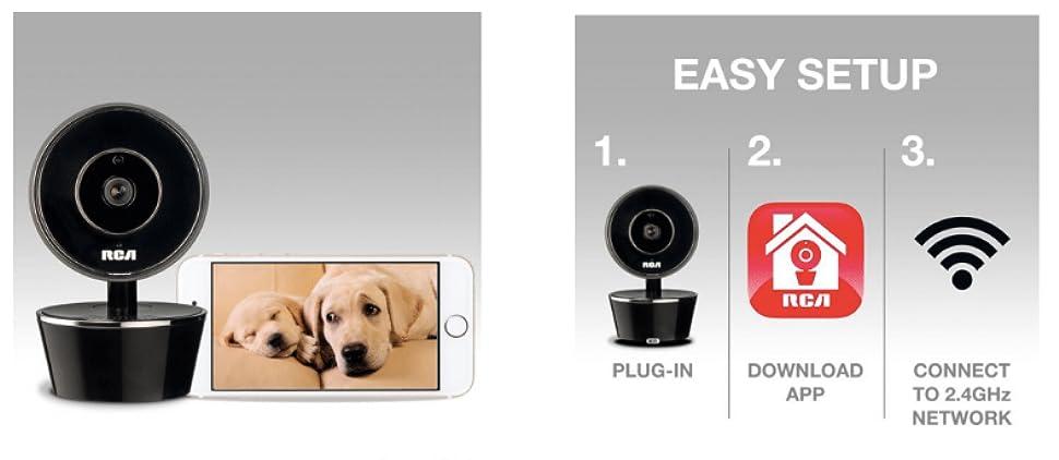 Amazon.com: RCA perro y gato Parent WiFi Cámara de seguridad ...