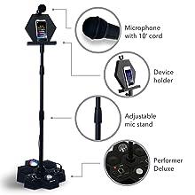 microphone mic stand bluetooth wireless speaker karaoke system PA speaker singing machine karaoke