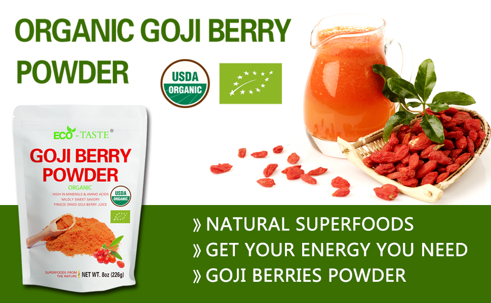 Amazon Com Organic Goji Berry Powder 8 Ounce Freeze Dried Superfood Natural Antioxidants Wolfberry Juice Powder Health Personal Care