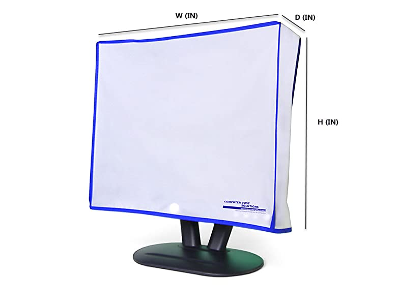 Monitor Dust Cover LED//LCD Antistatic Vinyl Flat-Screen Computer Monitor Water Proof Protective Case by SZBRO for 24 24W x18H x3D