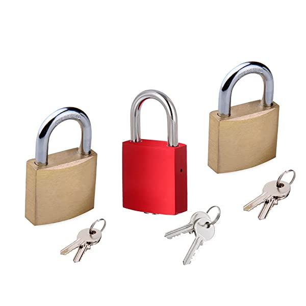Generous Keyed Alike 40mm Heavy Duty Laminated Steel Padlock Set Security Lock W/ 2 Keys Collectibles