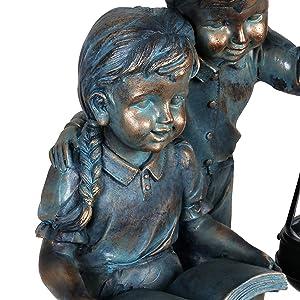 Art Vintage Bronze Little Girl Structural Disabilities
