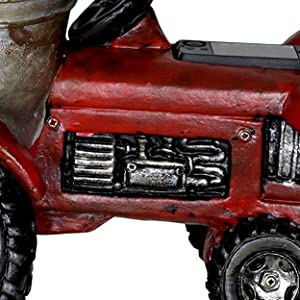 Amazon.com: Exhart Tractor maceta Solar pintado a mano ...