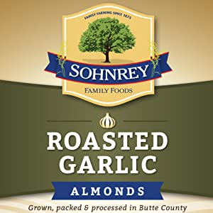 roasted garlic flavored smoked toasted crunchy savory bold spicy dry canned snack nuts