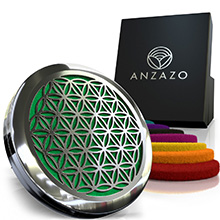 green car diffuser essential oils anzazo