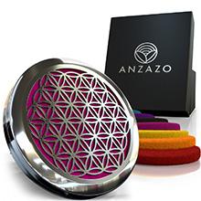 pink car diffuser essential oils anzazo