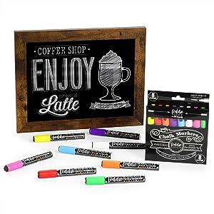 Marcadores de tiza, rotulador de pizarra, marcador de tiza líquida, Loddie Doddie, pizarra