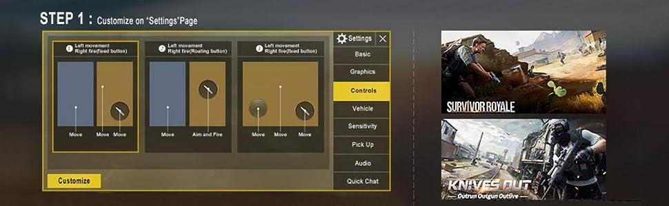 Amazon.com: Awontor PUBG - Disparador móvil para móvil FPS ...