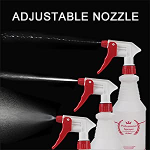 Plastic Spray Bottle 4 Pack All-Purpose Heavy Duty Spraying Bottles  for Cleaning Solution