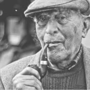 smoking pipe, irish pipe, old irish man