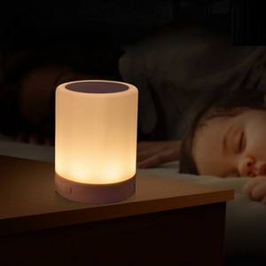 dimmable bedside lamp fabric table dimmable bedside night light zhoppy bluetooth speakers touch control lamp
