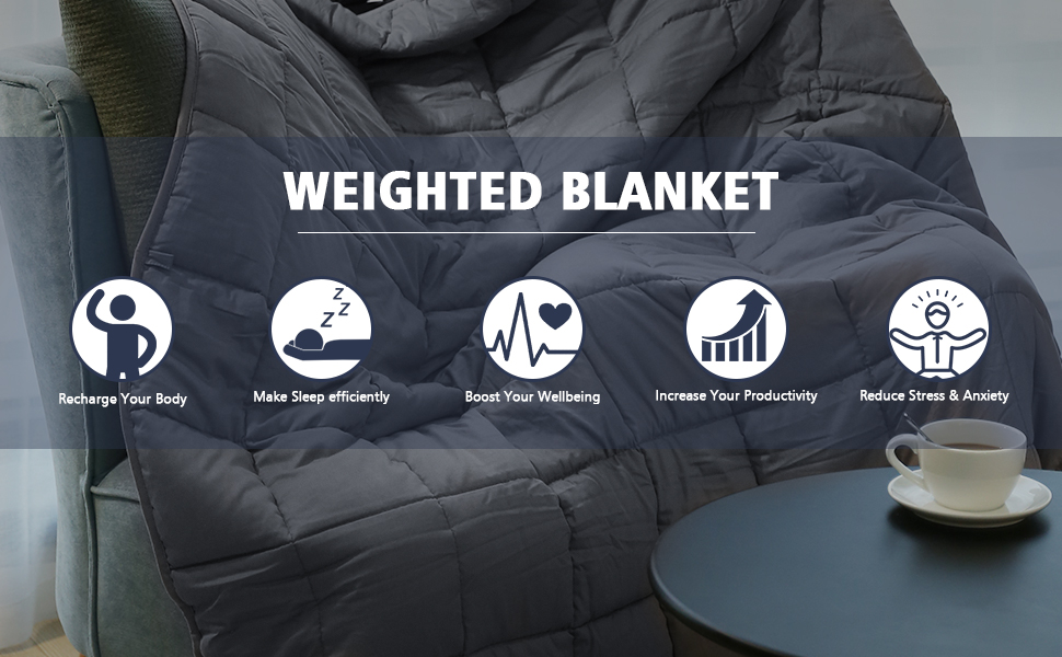 Lapsuus weighted blanket engineered to 10% of your body weight to naturally  reduce stress and increase relaxation through deep pressure stimulation. 661b547da