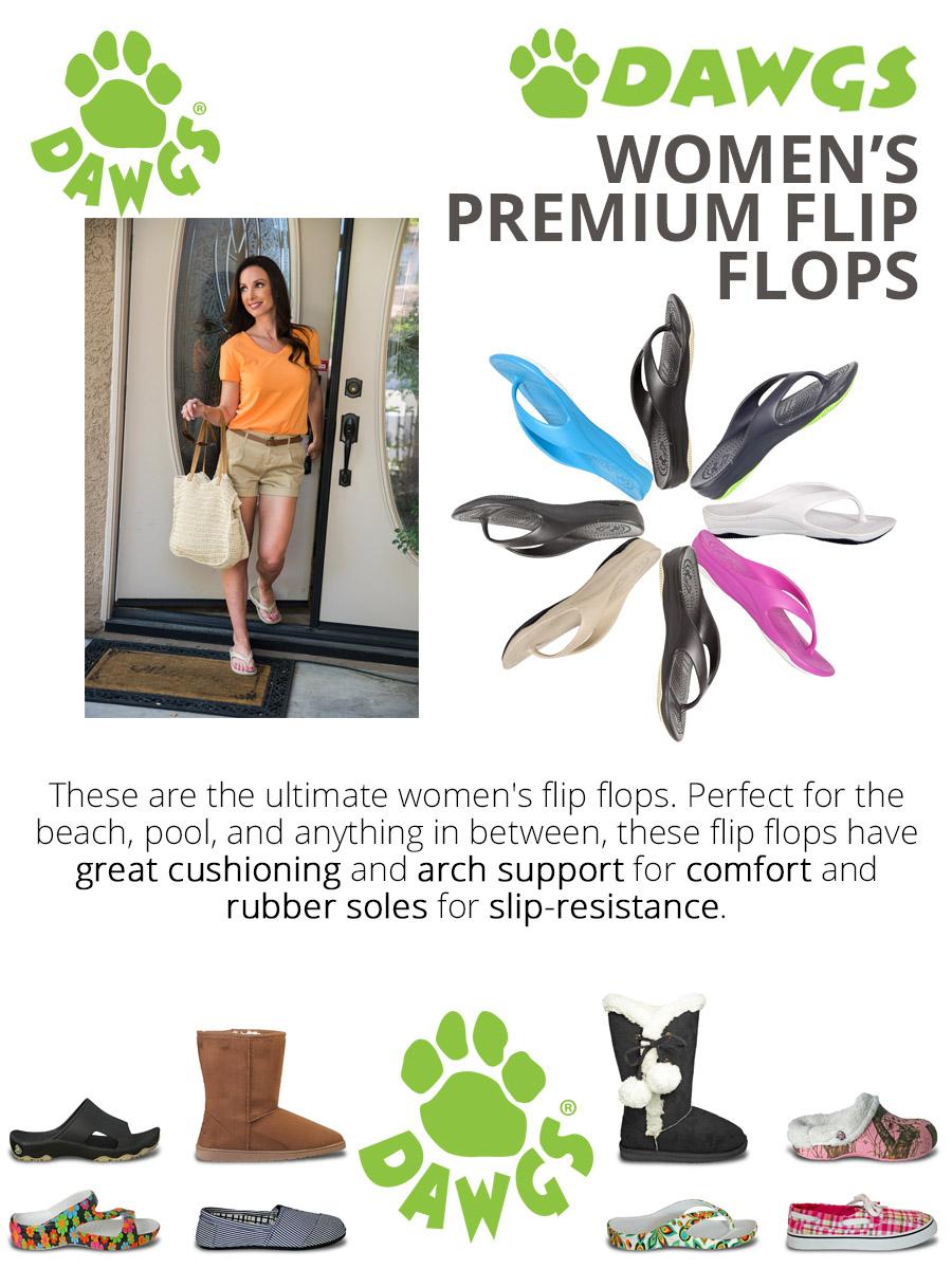 7a52a96e1 DAWGS Women s Flip-Flops with Rubber Sole