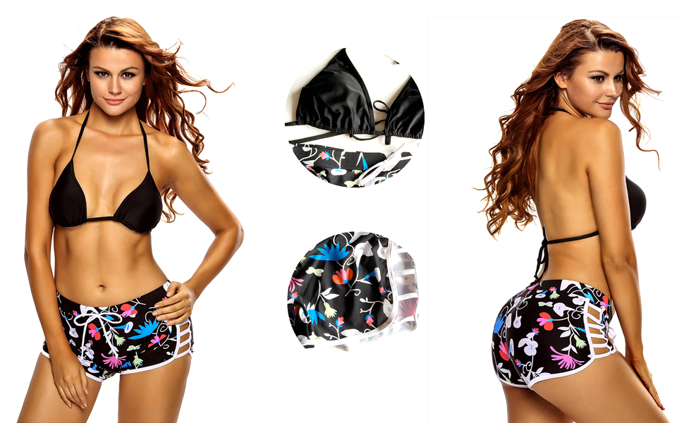 893705e154 ... Short Bottom 2 Piece Swimsuits Shell: 82% polyester+18% spandex.  Lining: 95% polyester+5% spandex. Size available: M,L,XL,XXL Package  Contents: 1 Top & ...