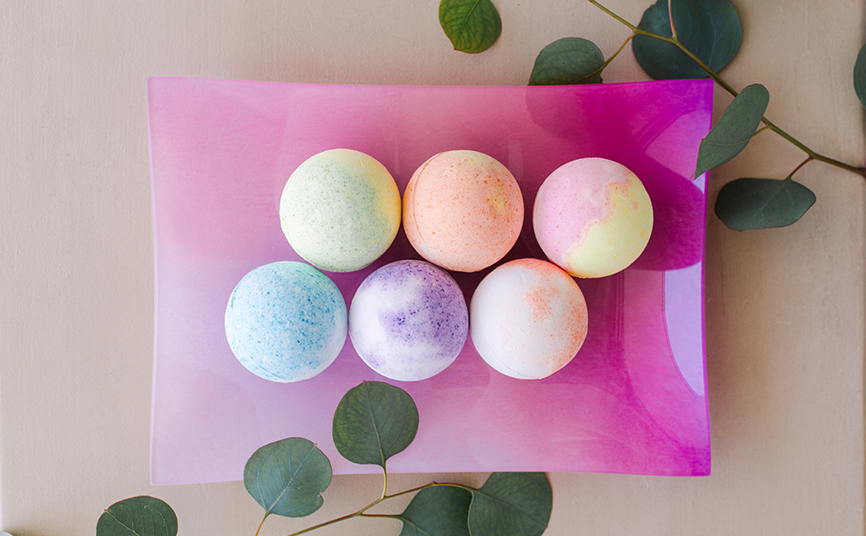 Rengora bath bombs gift set holidays anniversaries gifts stress relieve